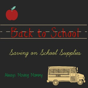 Back to School: Saving on School Supplies