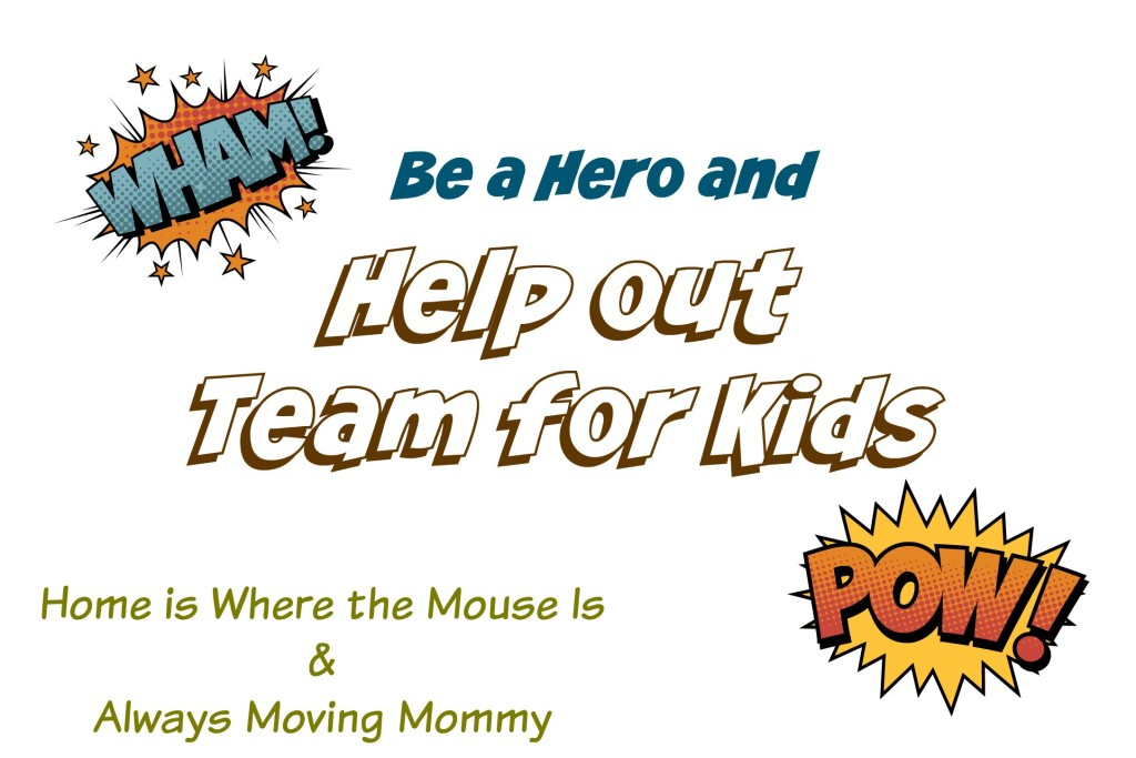 Be a Hero and Help Team for Kids -- How your donations can help someone stay in shape and help the community | www.alwaysmovingmommy.com