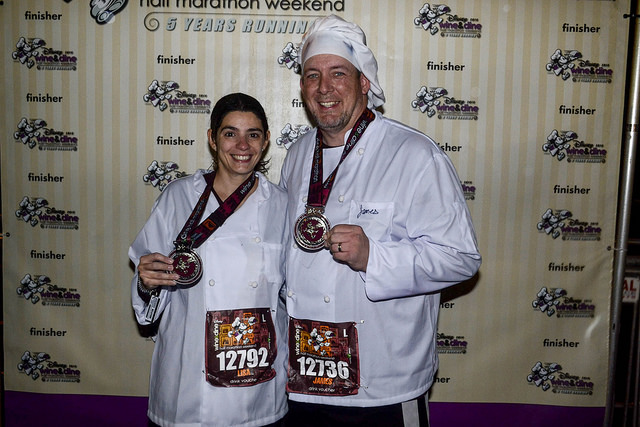 James and Lisa after Wine & Dine Half Marathon