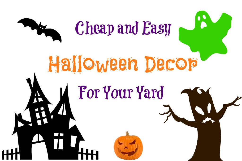 Cheap and Easy Halloween Decor for Your Yard -- decorate your house for the trick or treaters without a lot of extra work | www.alwaysmovingmommy.com