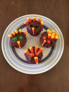 cupcake turkeys