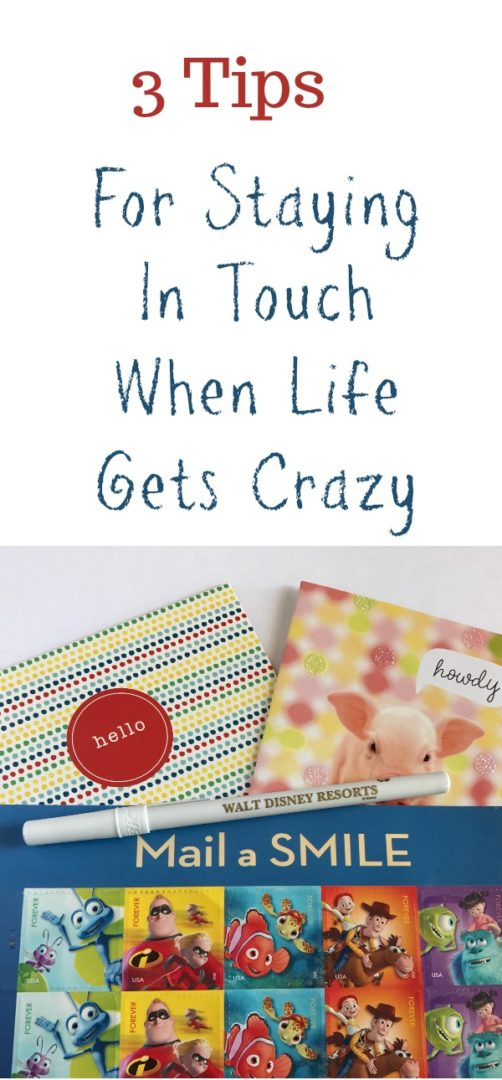 3 Tips for Staying In Touch When Life Gets Crazy | Always Moving Mommy | Life gets crazy but don't forget to make time for some human connection