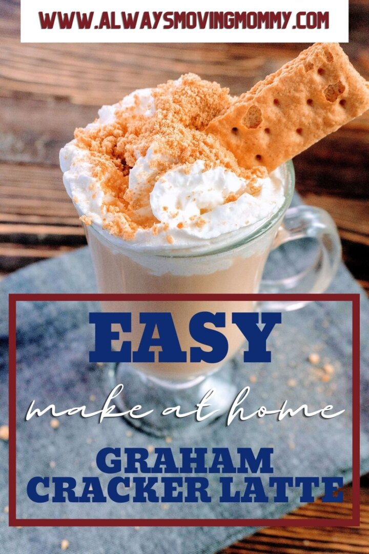 Making your own graham cracker latte at home